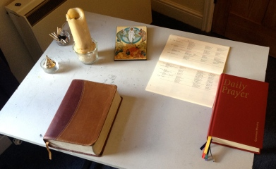 My prayer station at home.