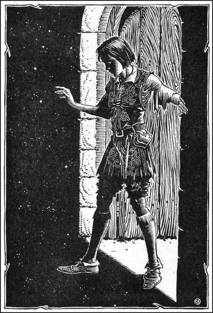 Curdie enters the great-grandmother's garret